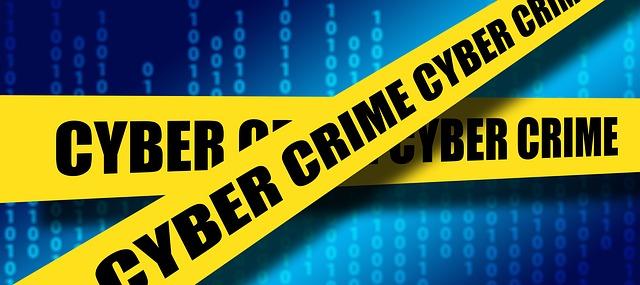 Cybercrime crime scene tape