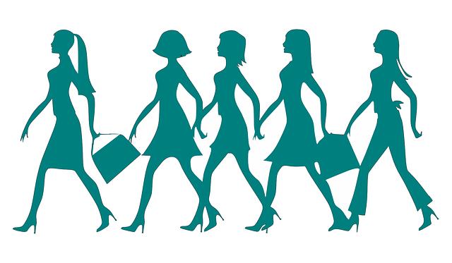 Shadow image of 5 women walking