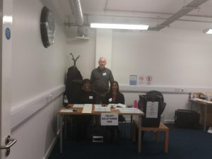 The Polling Station Team of three at Weatherill House