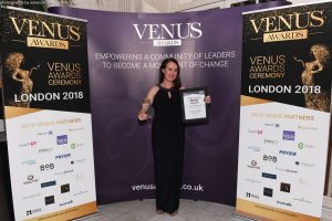 Jennifer Corcoran of My Super Connector at the Venus Awards 2018 in London
