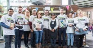 Photo of the Council Social Value Team at Social Saturday in the Whitgift Centre 2018